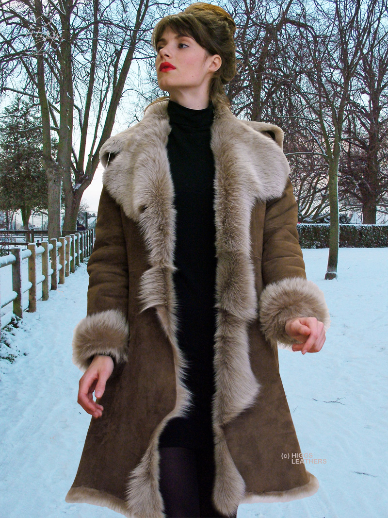 c72b89893aec5 Higgs Leathers Angela (women s fitted Toscana Shearling coat)
