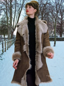 Higgs Leathers ONE ONLY SAVE £400!  Angela (women's fitted Toscana Shearling coat)