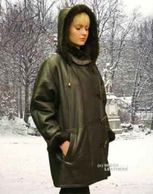 Higgs Leathers Debbie (Hooded 3/4 length women's Toscana Lambskin coat)