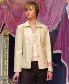Higgs Leathers {30' 32'  bust UNDER HALF PRICE'}  Eliza (short length leather jacket)