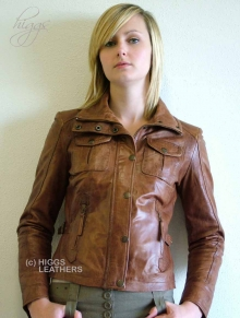 Higgs Leathers Jean (women's Bikers leather jackets)
