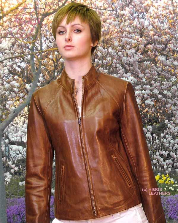 47f46fe32642 Higgs Leathers Last Few! Pippa (bikers style women's leather zip jackets)
