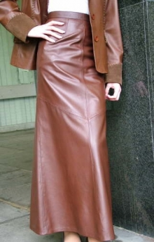 Higgs Leathers ALL SOLD! Charlene (Special quality women's brown leather skirts)