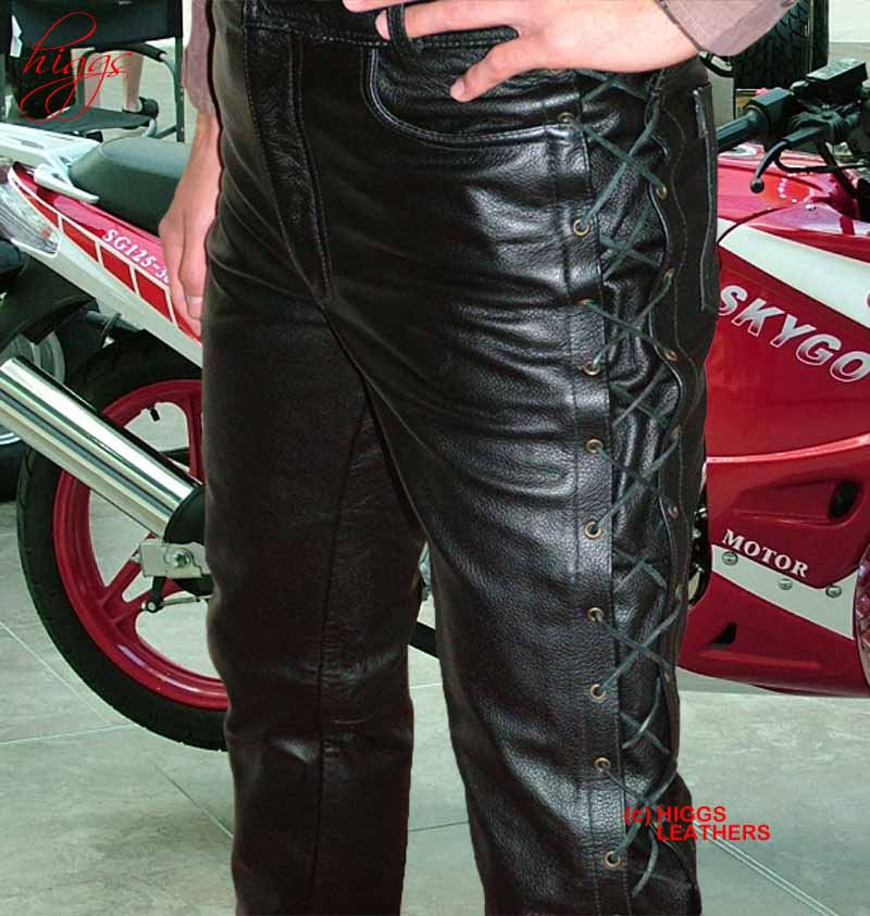 139ef0ada59c Higgs Leathers Lacko (laced side mens black leather trousers)ALL SOLD!