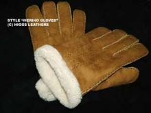 Higgs Leathers LAST FEW!   Hand Stitched Gloves (Men's Merino Lambskin gloves)