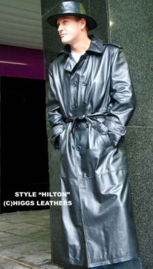 Higgs Leathers {36' to 50' chest} Hilton (mens Leather Trench Coats)
