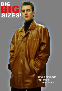 Higgs Leathers ALL SOLD!  Tyson (Plus size Leather jackets for men)