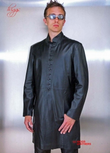 Higgs Leathers ALL SOLD!  Neo (7/8th.length mens black leather coat)