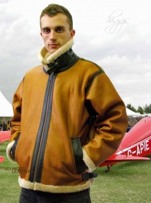 Higgs Leathers Mosquito (mens Merino Shearling RAF flying jacket)