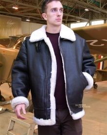Higgs Leathers ALL SOLD!  British Fighter sheepskin flying jacket