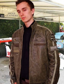 Higgs Leathers ALL SOLD!  Buzz (badges style men's leather jackets)