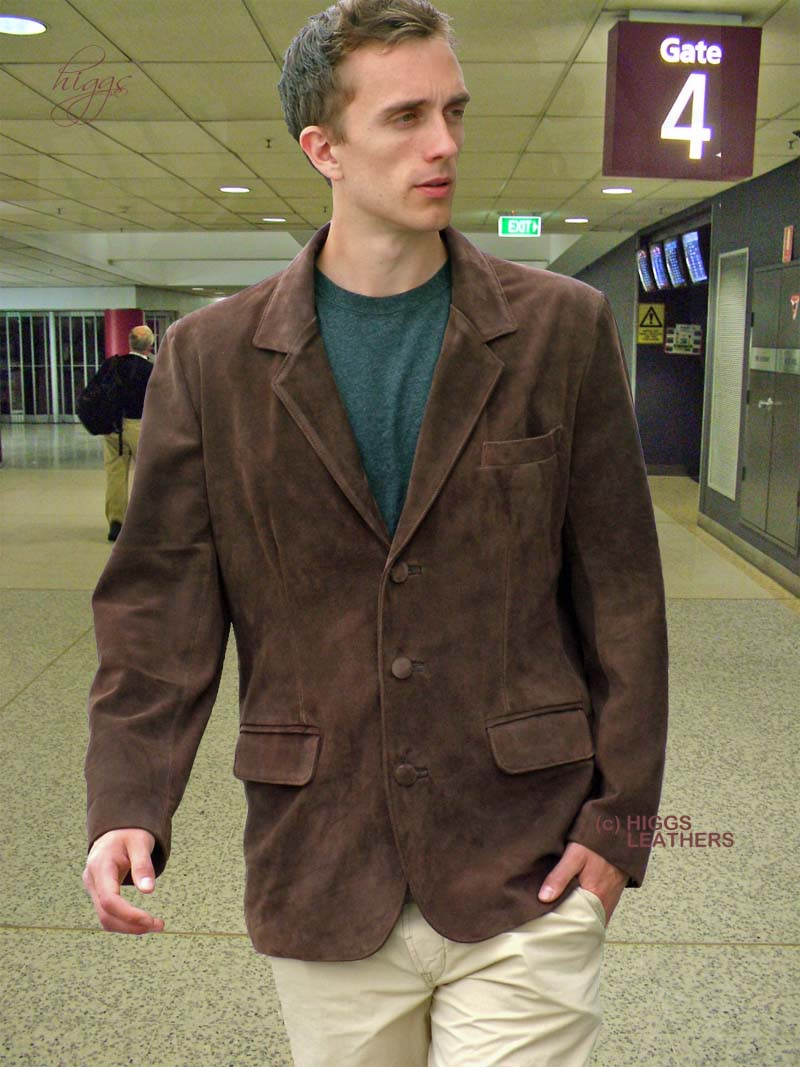Higgs Leathers Buy Milo Suit Style Mens Suede Jacket Online At