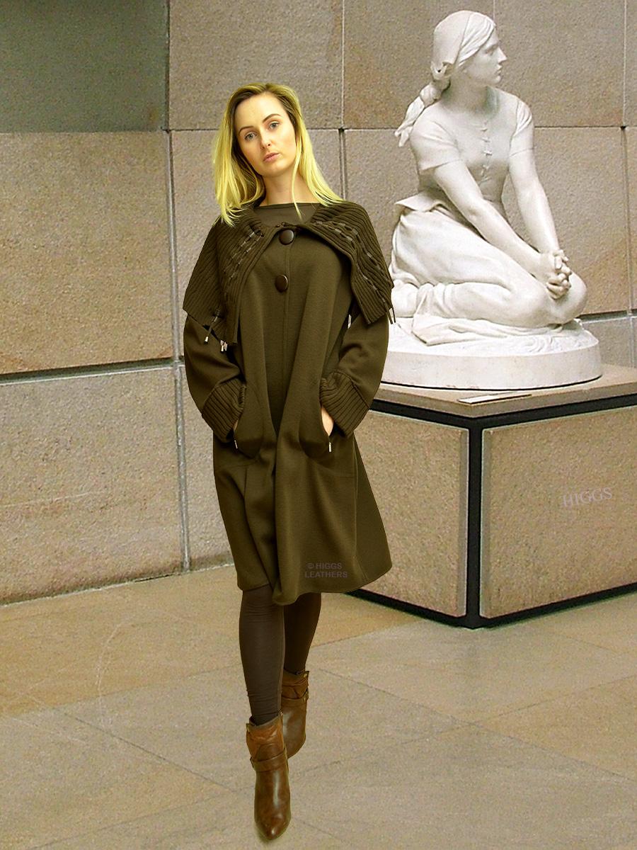 c0a20bdb574e Higgs Leathers {LAST ONE HALF PRICE!} Trieste (ladies Designer Knitwear  coat)