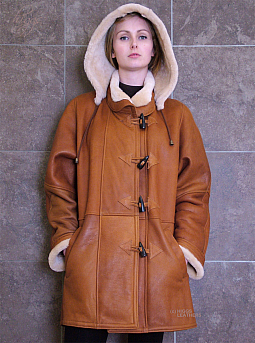 Higgs Leathers FEW ONLY!  Debbie (ladies Nappa Shearling Duffle Coats)