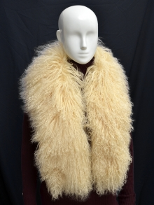 Higgs Leathers FEW ONLY!  Collette (ladies Mongolian Lambskin collar/scarf)