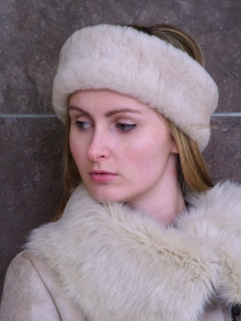 Higgs Leathers ONE ONLY!Fara (ladies Sheepskin Huff headbands)