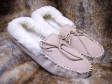 Higgs Leathers Sizes 3 to 8  Mollie (ladies wool lined moccasins)