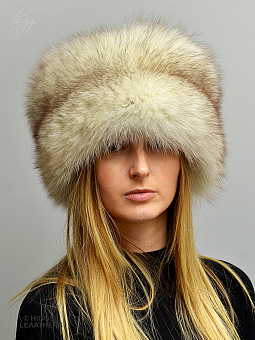 Higgs Leathers SOLD! HALF PRICE!  Coralita (ladies Blue Fox Cossack hat)