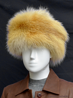Higgs Leathers SAVE £100!  Coralo (ladies Natural Red Fox Cossack hat)