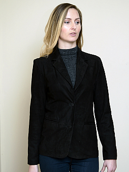 Higgs Leathers LAST 3 HALF PRICE!  Bonnie (ladies Kid Suede Blazer jacket)
