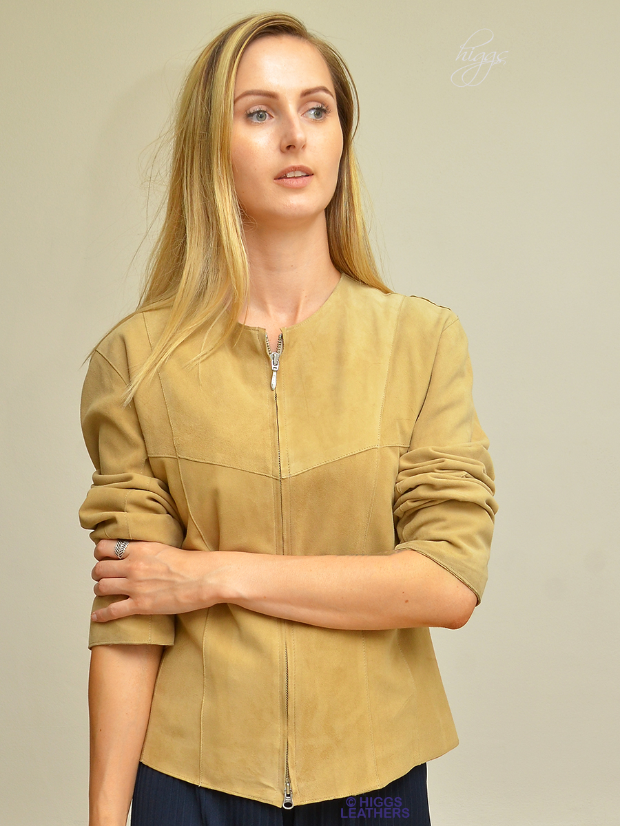 Higgs Leathers {38' TO 40' bust HALF PRICE!}  Nell (ladies Kidskin suede short jacket)