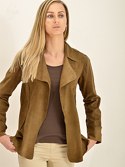 Higgs Leathers ONE ONLY SAVE £100!  Schula (ladies Mocha Kidskin Suede Jacket)