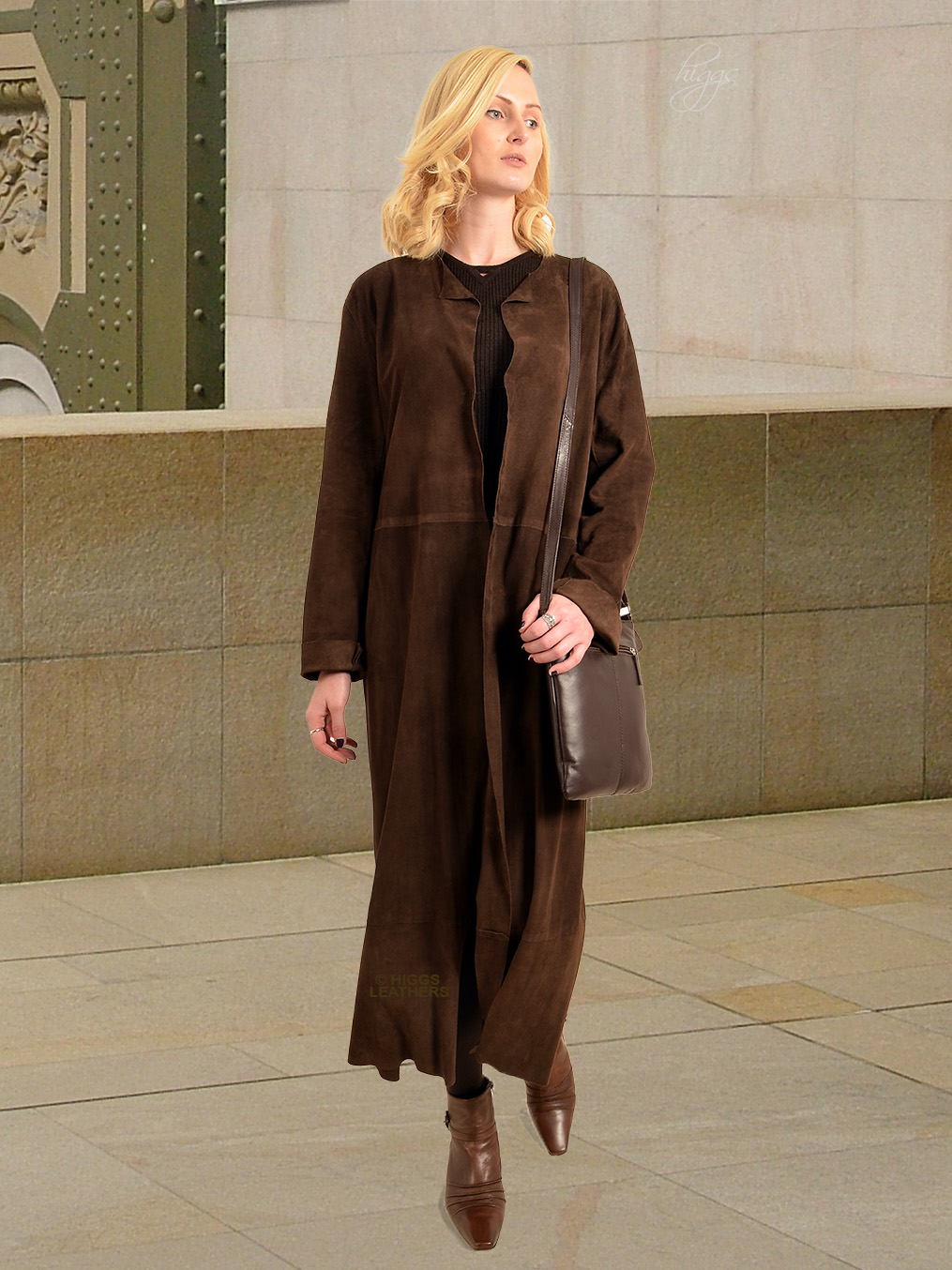 Higgs Leathers {36' to 38' bust HALF PRICE!}   Stephanie (Brown Kidskin Suede coat) Casually stunning!