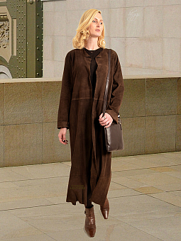 Higgs Leathers HALF PRICE SAVE £300!   Stephanie (featherweight Kidskin Suede coat)