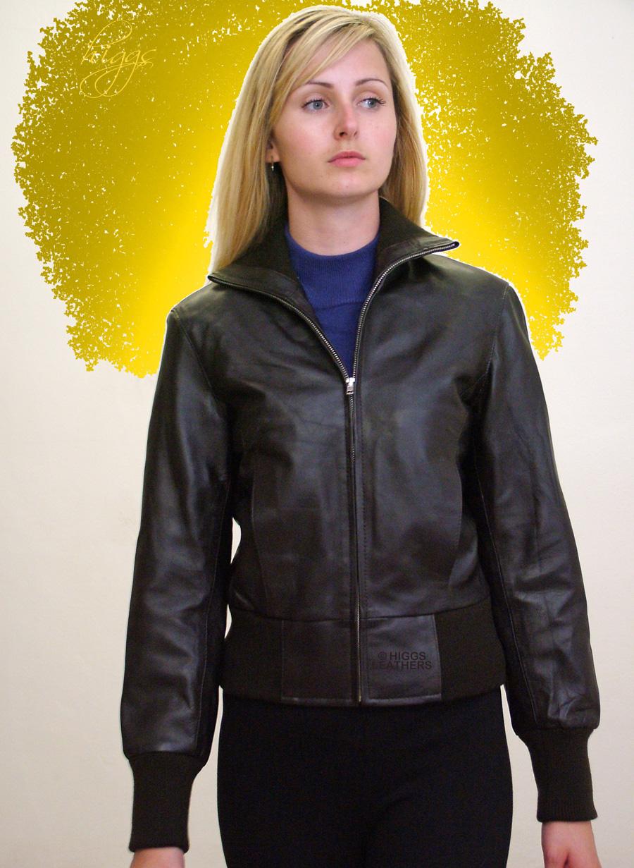 7d7ff03c428 Higgs Leathers | Buy LAST FEW Ittsie (ladies leather bomber jacket ...