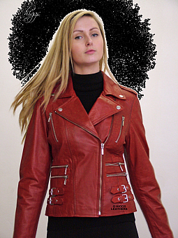 Higgs Leathers SOLD!  Lolita (ladies leather Biker jacket)