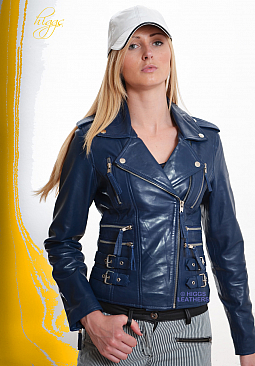Higgs Leathers LAST FEW!  Lolita (ladies Black Leather Biker jackets)
