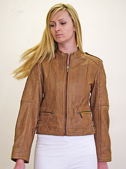 Higgs Leathers LAST FEW!  Rula (ladies quilted leather bikers jackets)