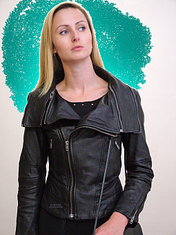 Higgs Leathers Ziperdeeay (Black leather biker jacket)