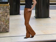 Higgs Leathers Bobo (ladies Hipster style Leather trousers)
