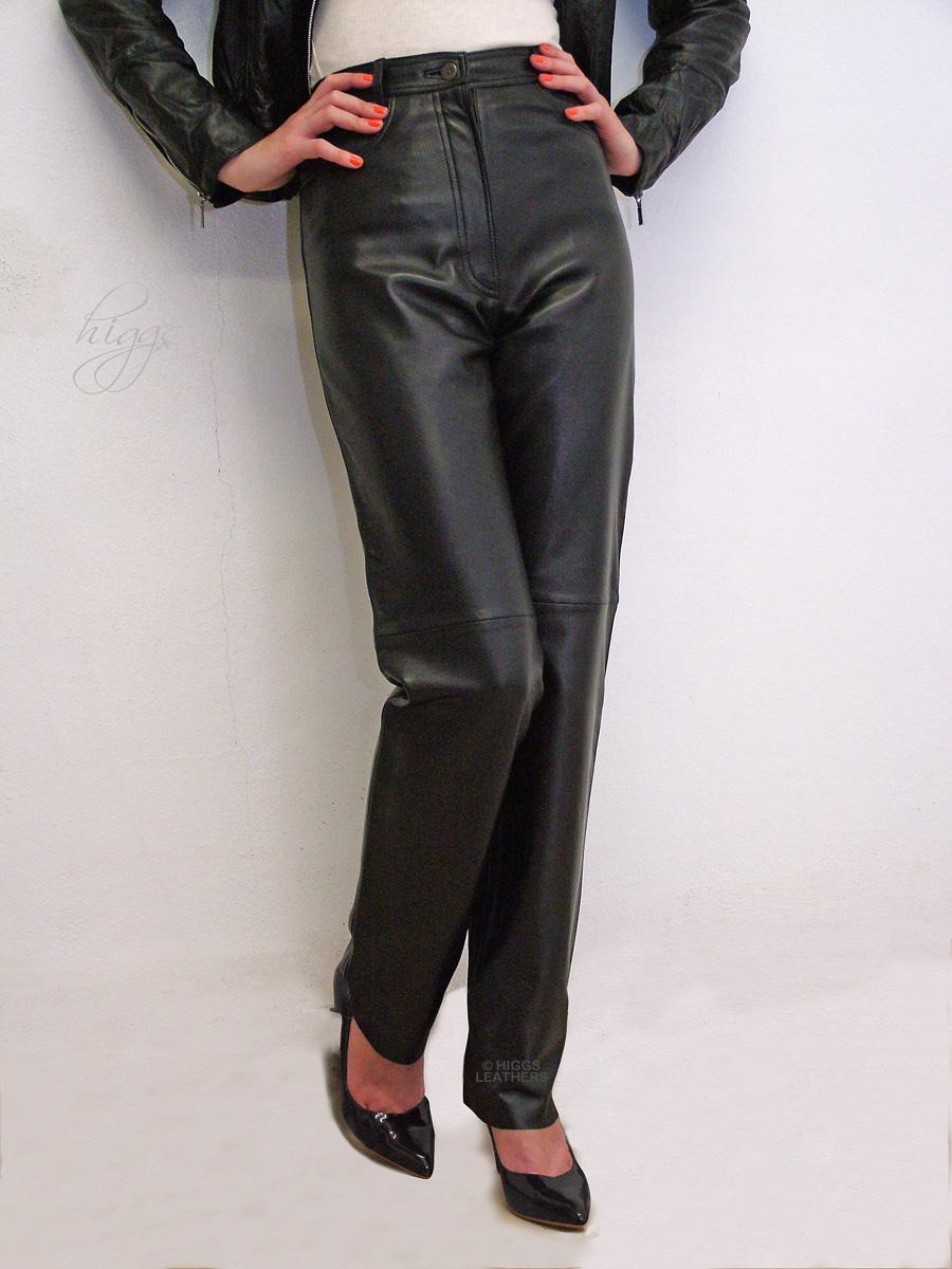 a3270de6c12 Higgs Leathers    Jenna (ladies black Leather jeans)