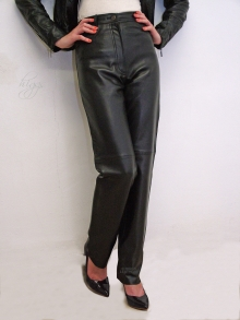 Higgs Leathers Jenna (ladies black Leather jeans)