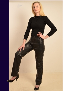 Higgs Leathers SOLD! save £50!  Perdy (ladies Black Leather jeans)