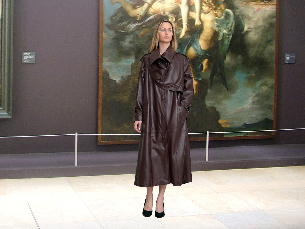 Higgs Leathers {SAVE £200!}   Charlotte (ladies Designer Brown Leather Trench coat) World's Finest Leather Trench Coat?  And how!