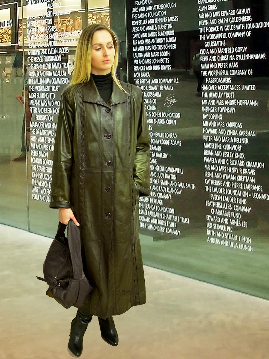 Men/'s D.B Trench Black OVERCOAT Full Length Lambskin Leather Long Rain Coat