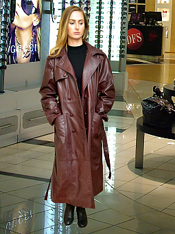 Higgs Leathers Kathy  (Ladies Special Quality leather DB Trench coat)