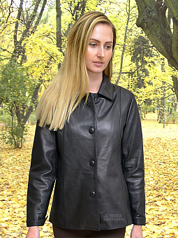 Higgs Leathers {32' to 46' bust}  Chris (Special quality black leather jacket)