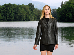 Higgs Leathers Daisy (ladies Black Leather blazer jackets)