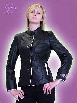 Higgs Leathers ONE ONLY SAVE £80!  Petra (ladies fitted Black Leather  jacket)