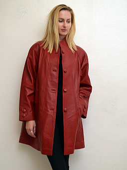Higgs Leathers Shirley (ladies Red Leather swingback coats)