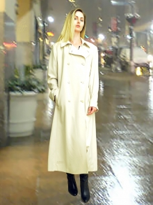 Higgs Leathers HALF PRICE SAVE £150!  Rasa (ladies Pale Beige washable raincoat)