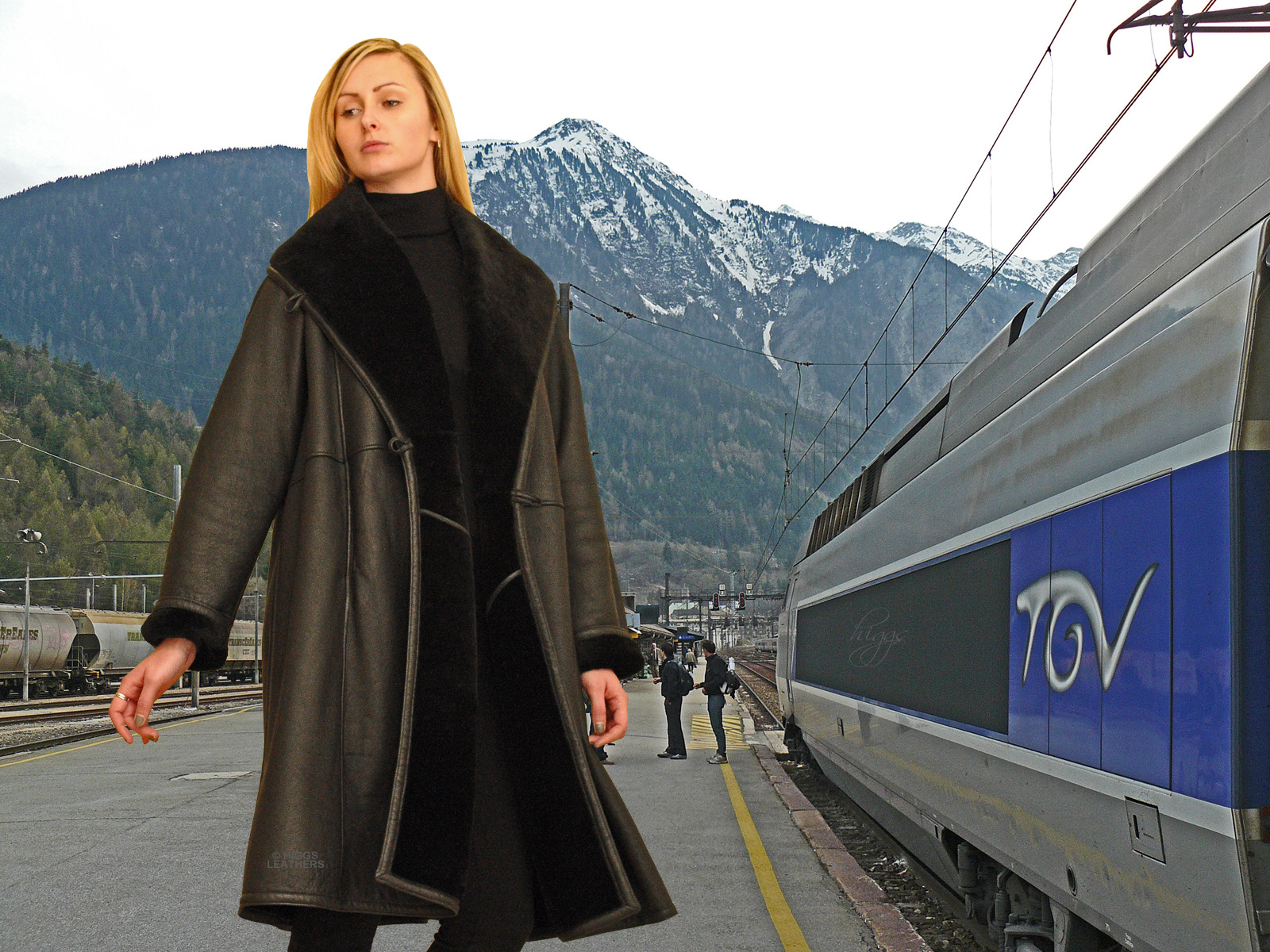 2ec073dff96 Higgs Leathers Alicia (ladies swingback Black Shearling coat)