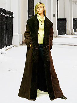 Higgs Leathers {36' to 52' bust} Alicia (Swingback Merino Shearling coat)