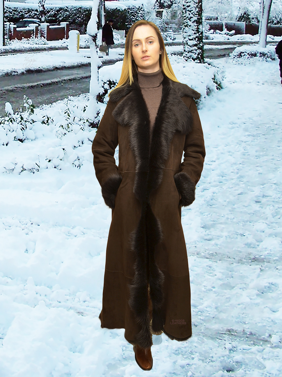 Higgs Leathers {32'/34' bust HALF PRICE!}  Alison (fitted Toscana shearling coat