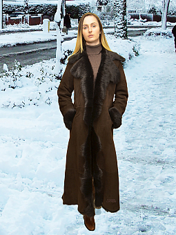 Higgs Leathers {32' to 34' bust HALF PRICE!}  Alison (fitted Toscana shearling coat)