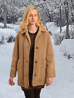 Higgs Leathers {FEW ONLY SAVE £200!}  Andrea (ladies classic Shearling coat)